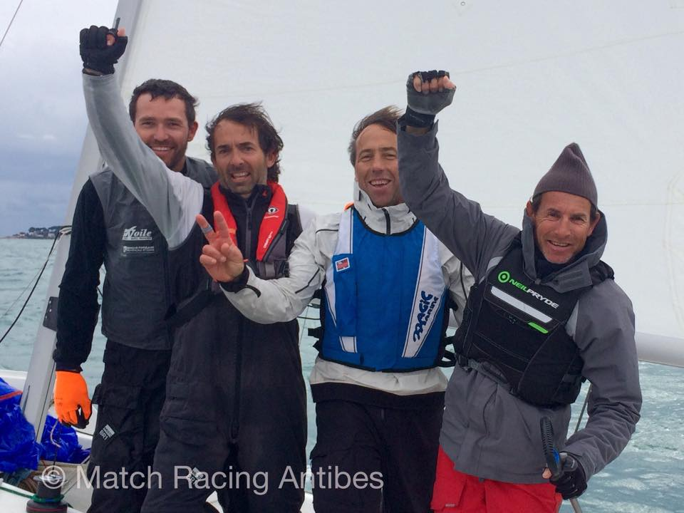 François Brenac with Thomas Deplanque, Philippe Buchart and Philippe Mourniac